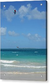 Catching Some Air At Orient Beach In Saint Martin Acrylic Print