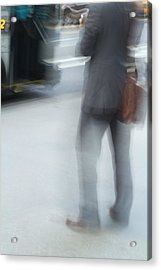 Catching The Bus Acrylic Print by Karol Livote