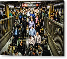 Catching The Subway Acrylic Print