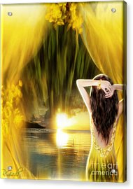 Acrylic Print featuring the digital art Catching The Sunset - Fantasy Art By Giada Rossi by Giada Rossi