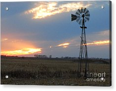 Catching The Wind In South Dakota Acrylic Print by Mary Carol Story