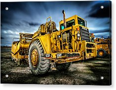 Caterpillar Cat 623f Scraper Acrylic Print by YoPedro