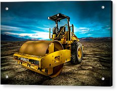 Caterpillar Cat Roller Cs563e Acrylic Print by YoPedro
