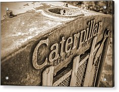 Caterpillar Vintage Acrylic Print
