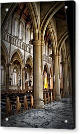 Cathederal Interior Acrylic Print by John Monteath