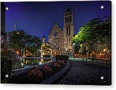 Cathedral At Columbus Circle Acrylic Print by Everet Regal