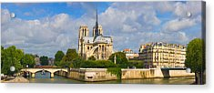 Cathedral At The Riverside, Notre Dame Acrylic Print by Panoramic Images