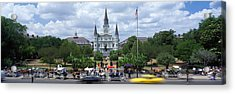 Cathedral At The Roadside, St. Louis Acrylic Print by Panoramic Images