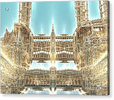 Cathedral Acrylic Print by Bernard MICHEL