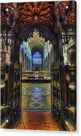 Cathedral Choir Gates Acrylic Print by Ian Mitchell