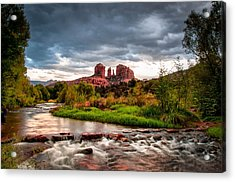 Cathedral Crossing Red Rock Acrylic Print by Linda Pulvermacher