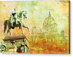 Cathedral De Berlin Acrylic Print by Catf