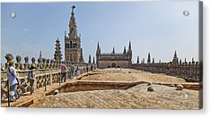 Cathedral In A City, Seville Cathedral Acrylic Print by Panoramic Images