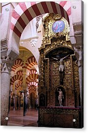 Cathedral In Mezquita Acrylic Print by Jacqueline M Lewis