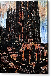 Cathedral In Spring Acrylic Print by Oscar Penalber