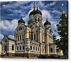 Cathedral In Tallinn Acrylic Print by David Smith