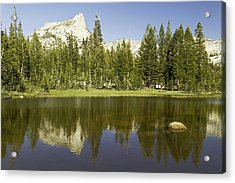 Cathedral Lakes-yosemite Seriers 19 Acrylic Print by David Allen Pierson
