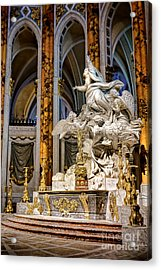 Cathedral Of Chartres Altar Acrylic Print by Olivier Le Queinec