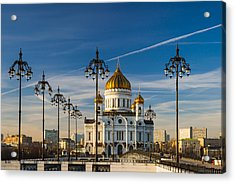 Cathedral Of Christ The Savior 3 - Featured 3 Acrylic Print by Alexander Senin