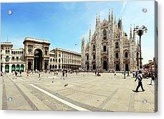 Cathedral Of Milan Galleria Vittorio Acrylic Print by Paul Biris