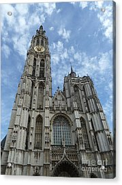 Cathedral Of Our Lady Antwerp Belgium Acrylic Print by Zori Minkova