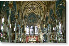 Cathedral Of Saint John The Baptist Acrylic Print by D Wallace