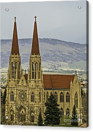 Cathedral Of St Helena Acrylic Print by Sue Smith