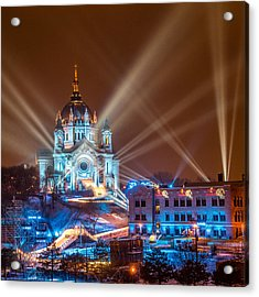 Cathedral Of St Paul Ready For Red Bull Crashed Ice Acrylic Print by Paul Freidlund