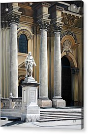 Cathedral Of Syracuse Acrylic Print by Kathleen English-Barrett