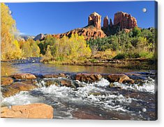 Acrylic Print featuring the photograph Cathedral Rock From Rock Crossing by Dan Myers