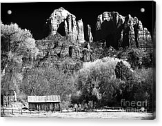 Cathedral Rock Acrylic Print by John Rizzuto