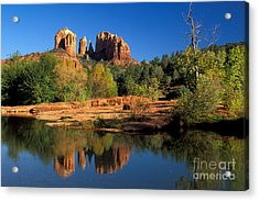 Cathedral Rock Acrylic Print by Mark Newman
