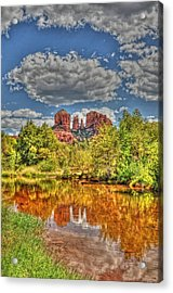 Cathedral Rock Painted Acrylic Print