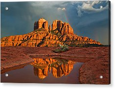 Cathedral Rock Rainbow Acrylic Print