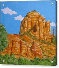 Cathedral Rock Sedona Az Left Acrylic Print by Carol Sabo