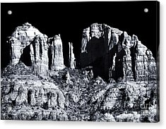 Cathedral Rock Shadows Acrylic Print by John Rizzuto