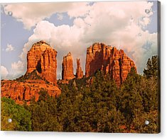 Cathedral Rock Sunset Acrylic Print by Bob and Nadine Johnston