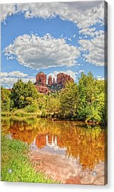 Cathedral Rock Tone Mapped Acrylic Print