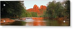 Cathedral Rocks In Coconino National Acrylic Print by Panoramic Images