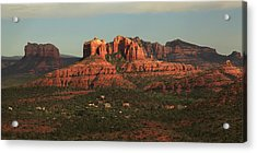 Acrylic Print featuring the photograph Cathedral Rocks In Sedona by Alan Vance Ley