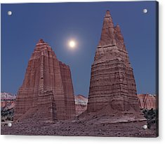 Cathedral Valley Moonrise Acrylic Print