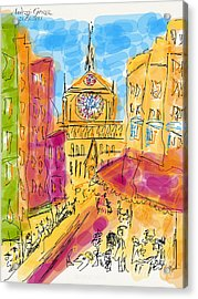 Cathedrale Notre Dame De Paris. I Love Paris - J Adore Paris . The Young Rebels Movement. Acrylic Print by  Andrzej Goszcz
