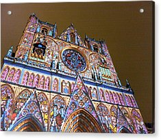 Cathedrale Saint-jean Illuminee Acrylic Print by Marc Philippe Joly