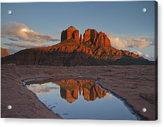 Cathedrals' Reflection Acrylic Print by Tom Kelly