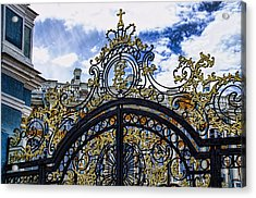 Catherine Palace Entry Gate - St Petersburg Russia Acrylic Print