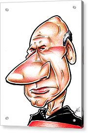 Catian Jean Luc Picard Acrylic Print by Big Mike Roate