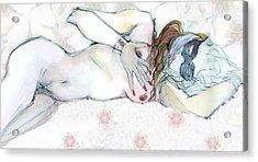 Catlady Acrylic Print