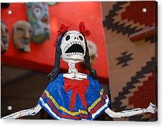 Catrina Doll Acrylic Print by Susie Blauser