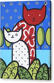 Cats 1 Acrylic Print by Trudie Canwood