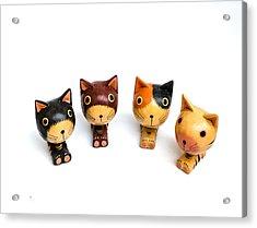 Cats Doll Acrylic Print by Suntasit Fhakthap